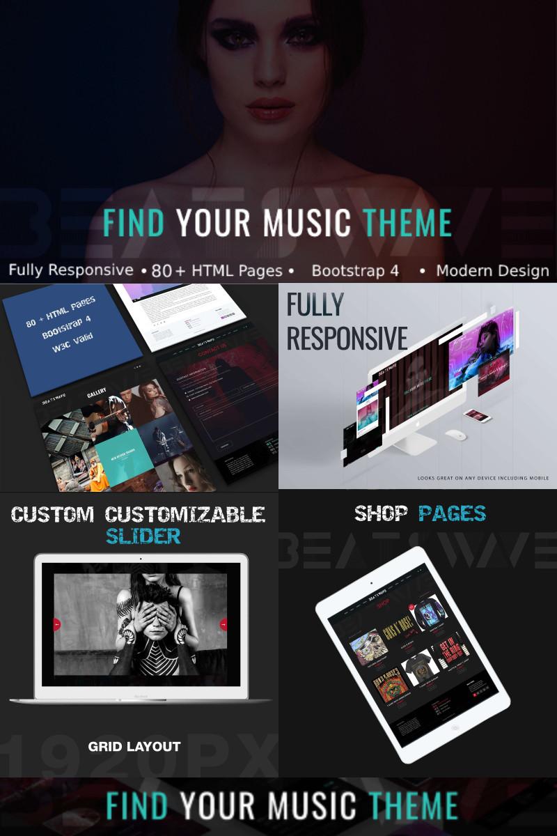 Reszponzív BeatsWave - Creative Music HTML Weboldal sablon 96971