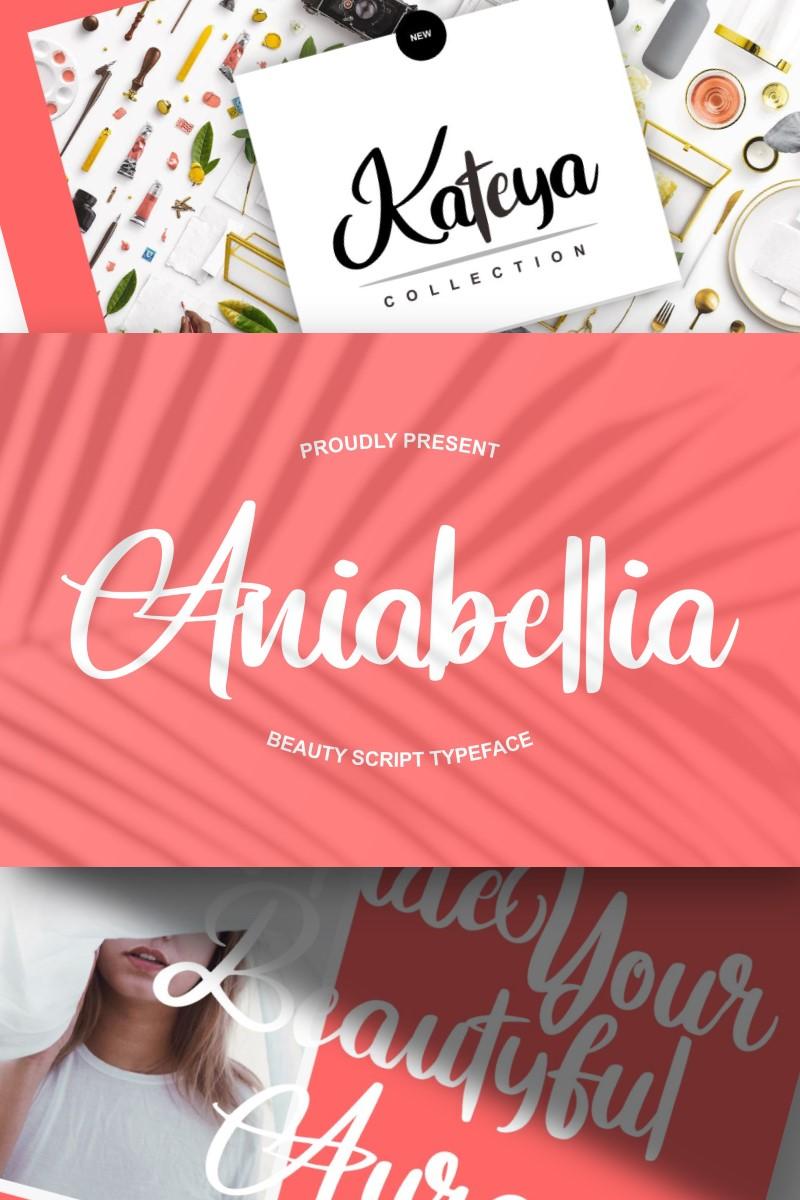"Schriftart namens ""Aniabellia | Beauty Script Typeface"" #96953"
