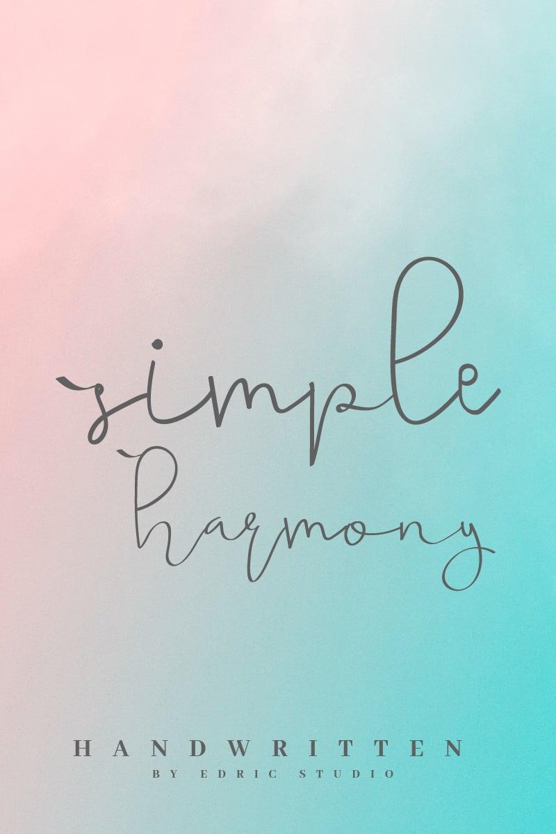 "Schriftart namens ""Simple Harmony"" #96954"