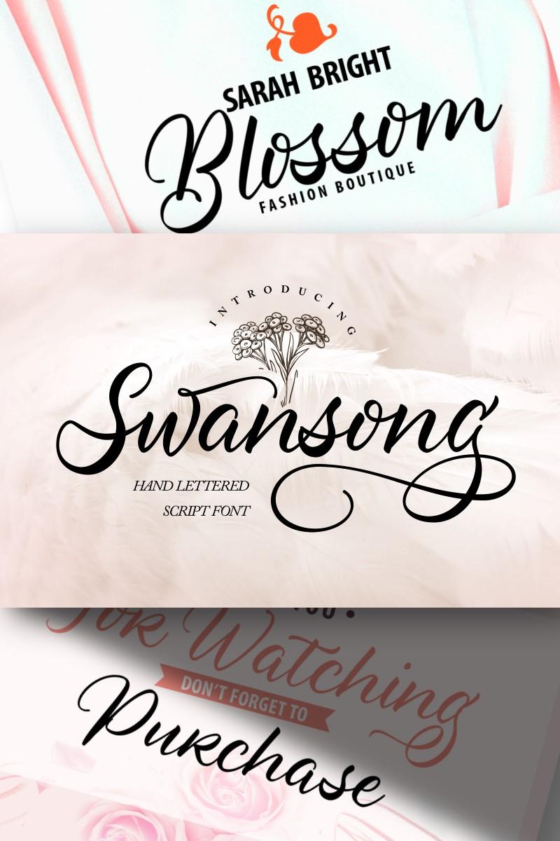 "Schriftart namens ""Swansong | Handlettered Script"" #96948"
