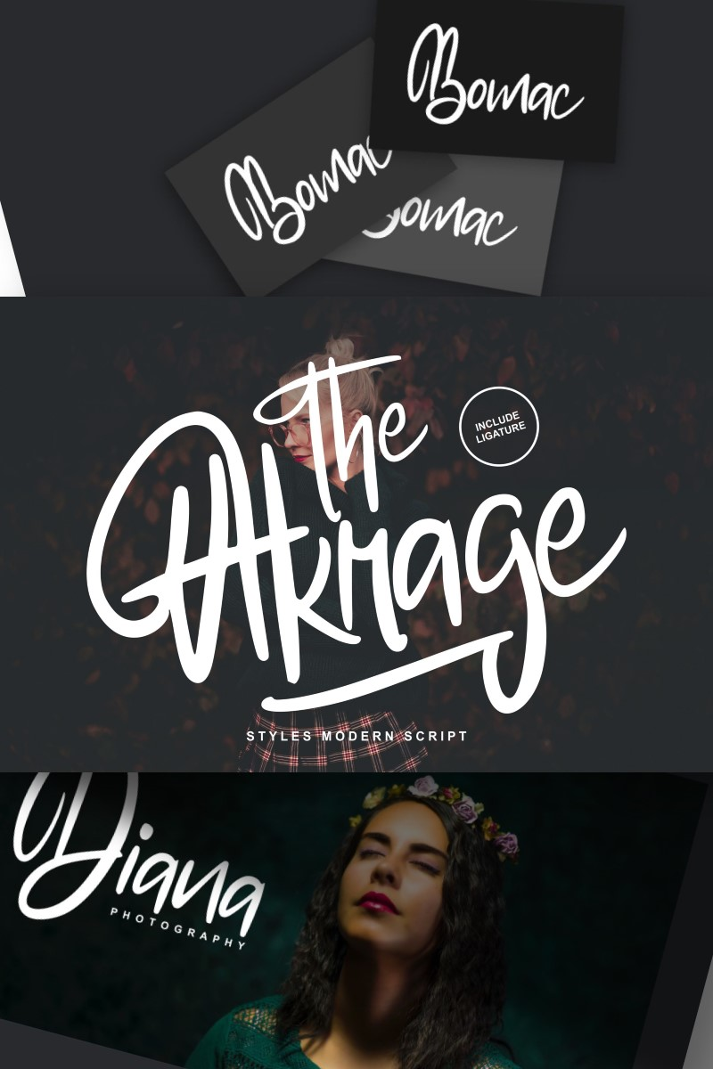 "Schriftart namens ""The Akrage | Styles Modern"" #96951"