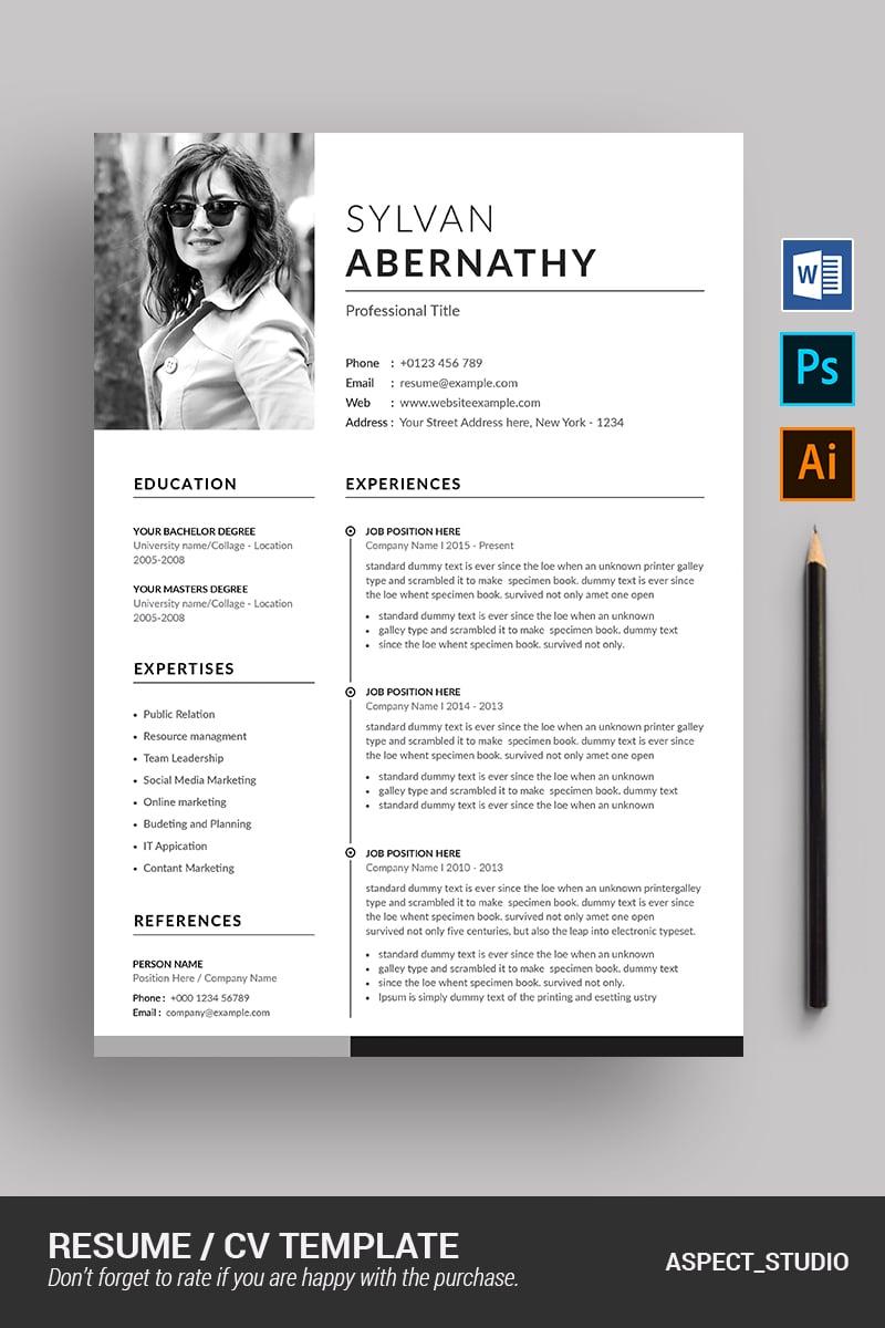 Sylvan Abernathy Resume Template