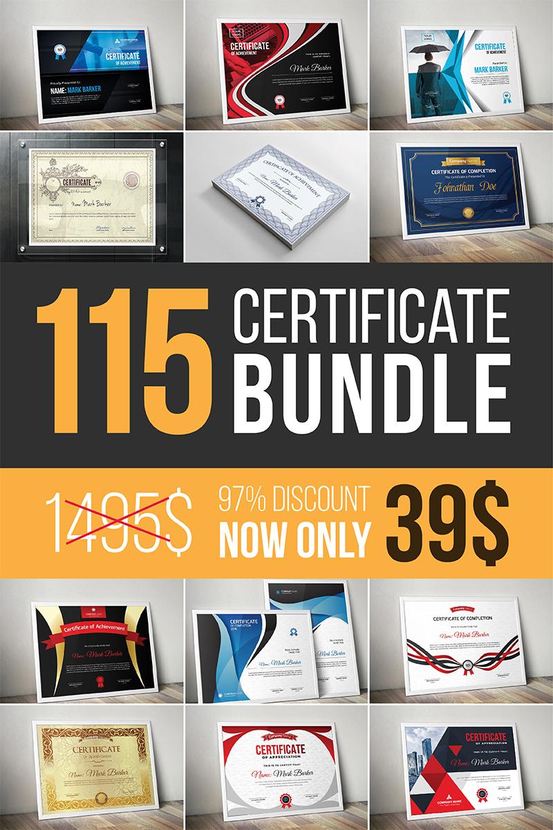 Szablon certyfikatu Ultimate Bundle #96958