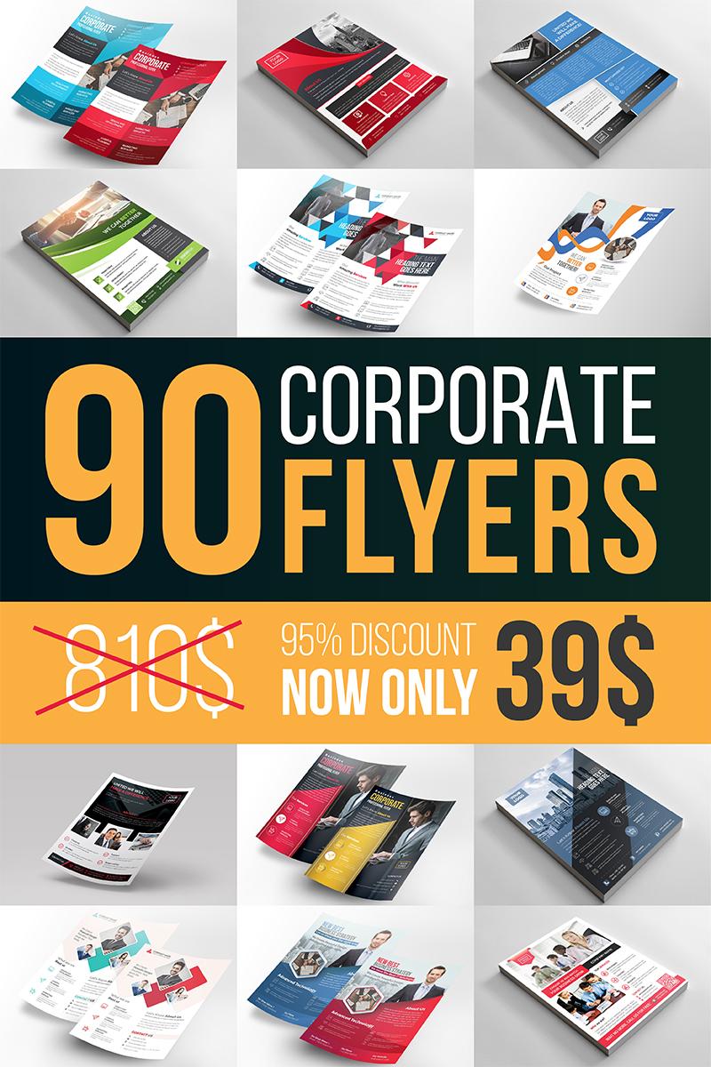 """Unternehmensidentität Vorlage namens """"Ultimate Corporate Flyer Bundle"""" #96960"""