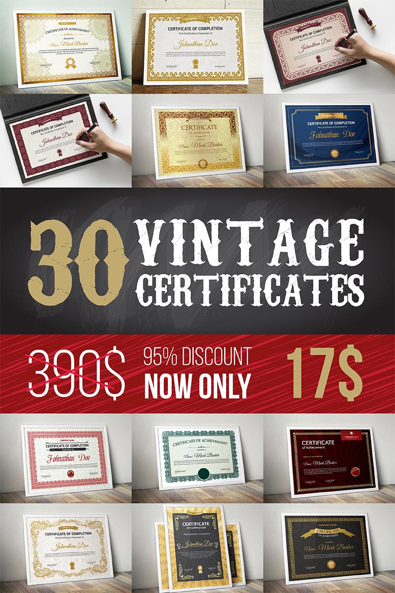 """""""Vintage Bundle"""" modèle de certificat  #96956"""