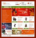 OsCommerce: Online Store/Shop Most Popular osCommerce Templates Christmas Templates
