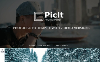 PicIt - Fullscreen HTML Photography Landing Page Template