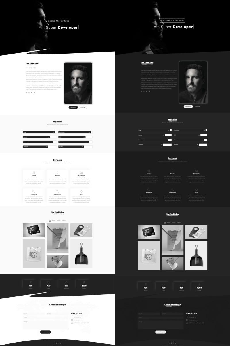 """JONJUL - Portfolio MultiPurpose OnePage Template"" 着陆页模板 #97022"