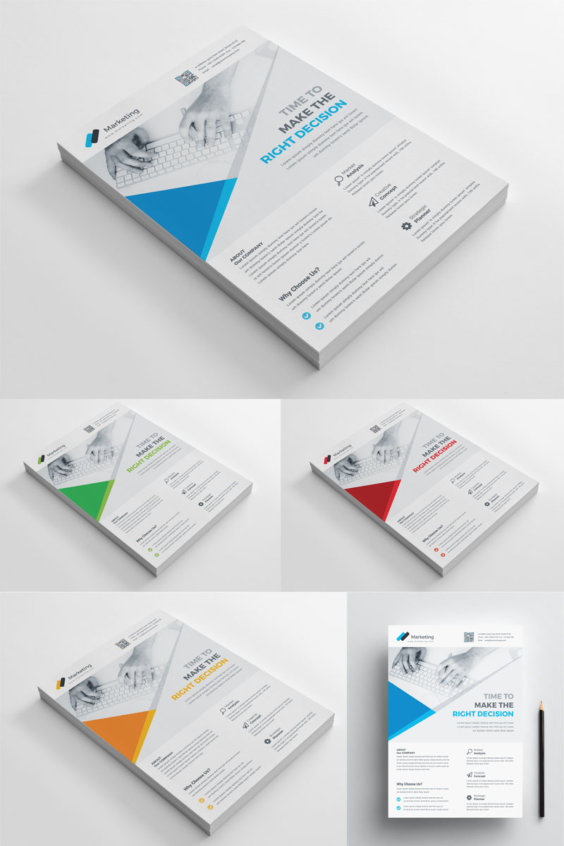 Red Color Flyer Corporate Identity Template