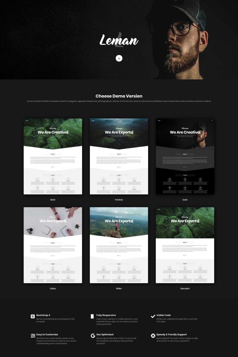 Responsive Leman - Creative Portfolio Açılış Sayfası #97023
