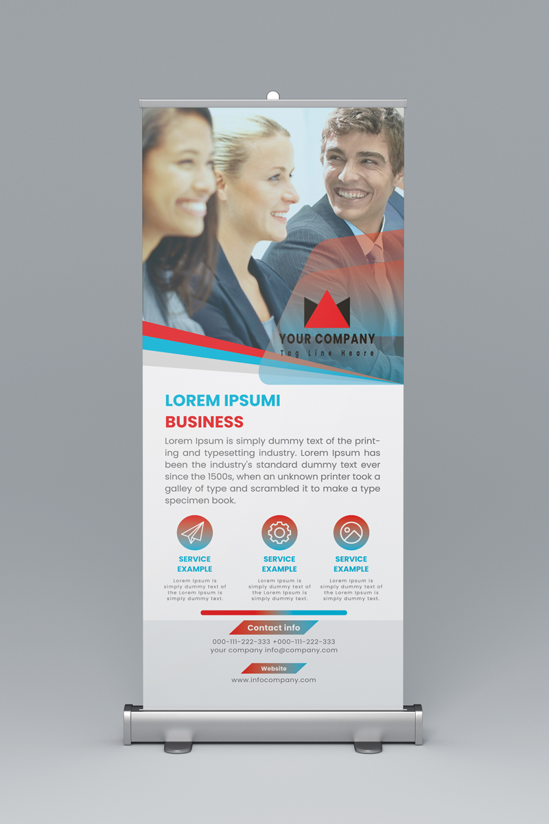 Roll up Banner Design Corporate Identity Template