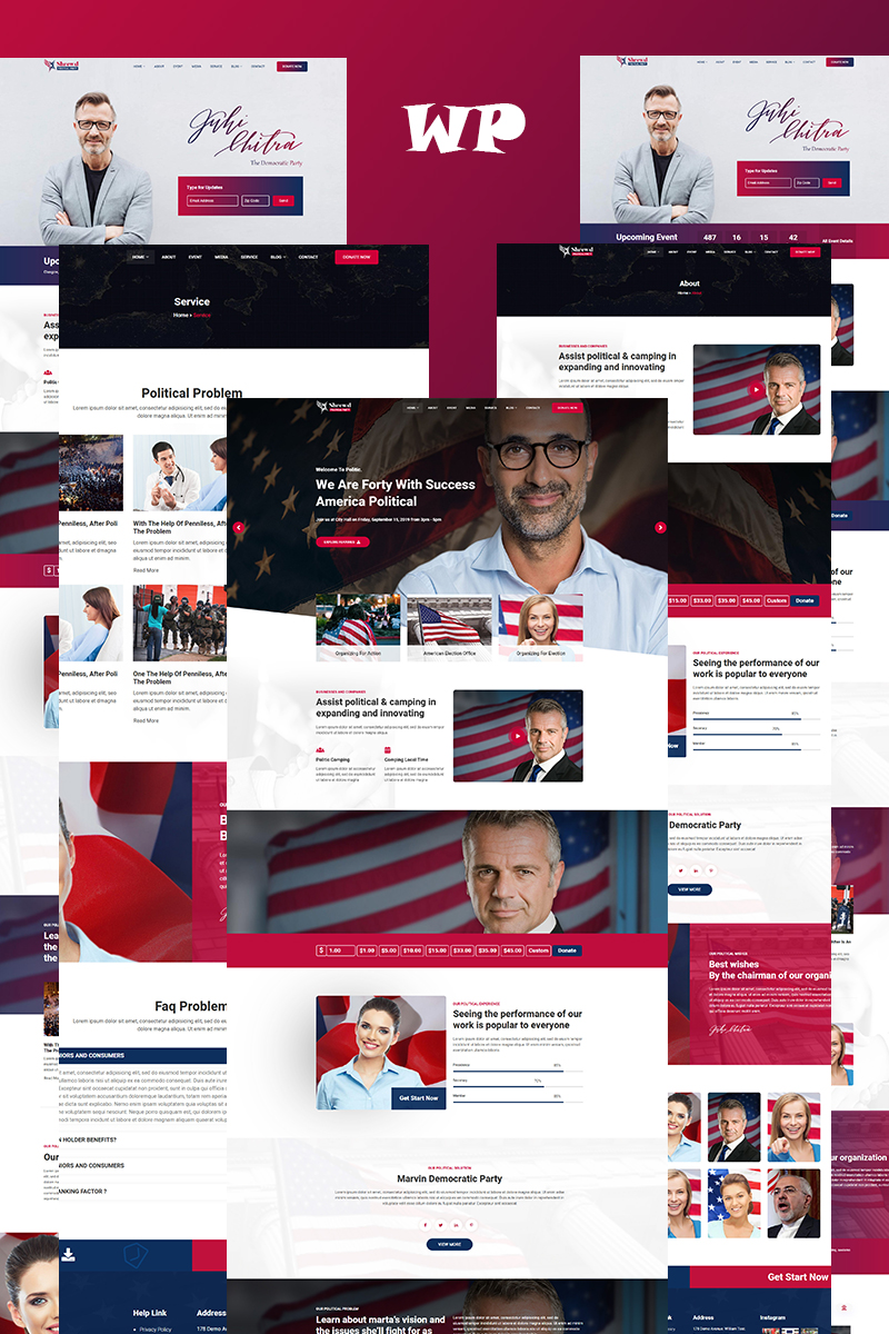 Shrewd - Responsive Political WordPress-tema #97024