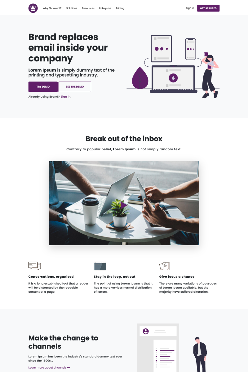 """Shuruwat - Software/Marketing Agency HTML"" Website template №97026"
