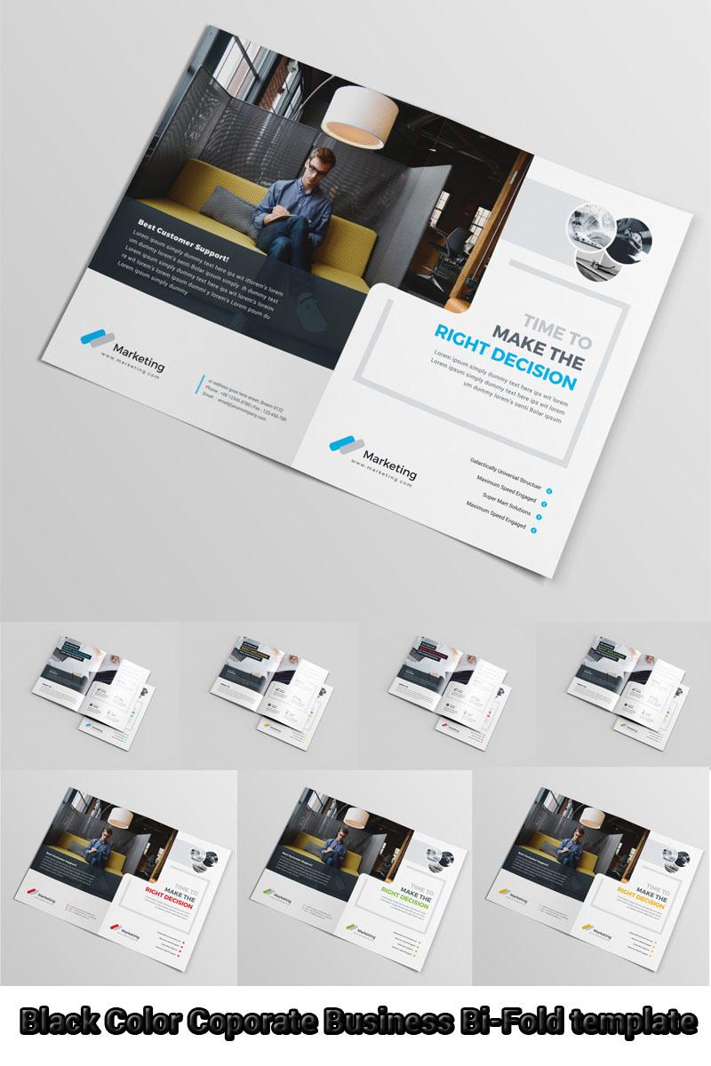 Szablon tożsamości korporacyjnej Black Color Business Bi-Fold #97030