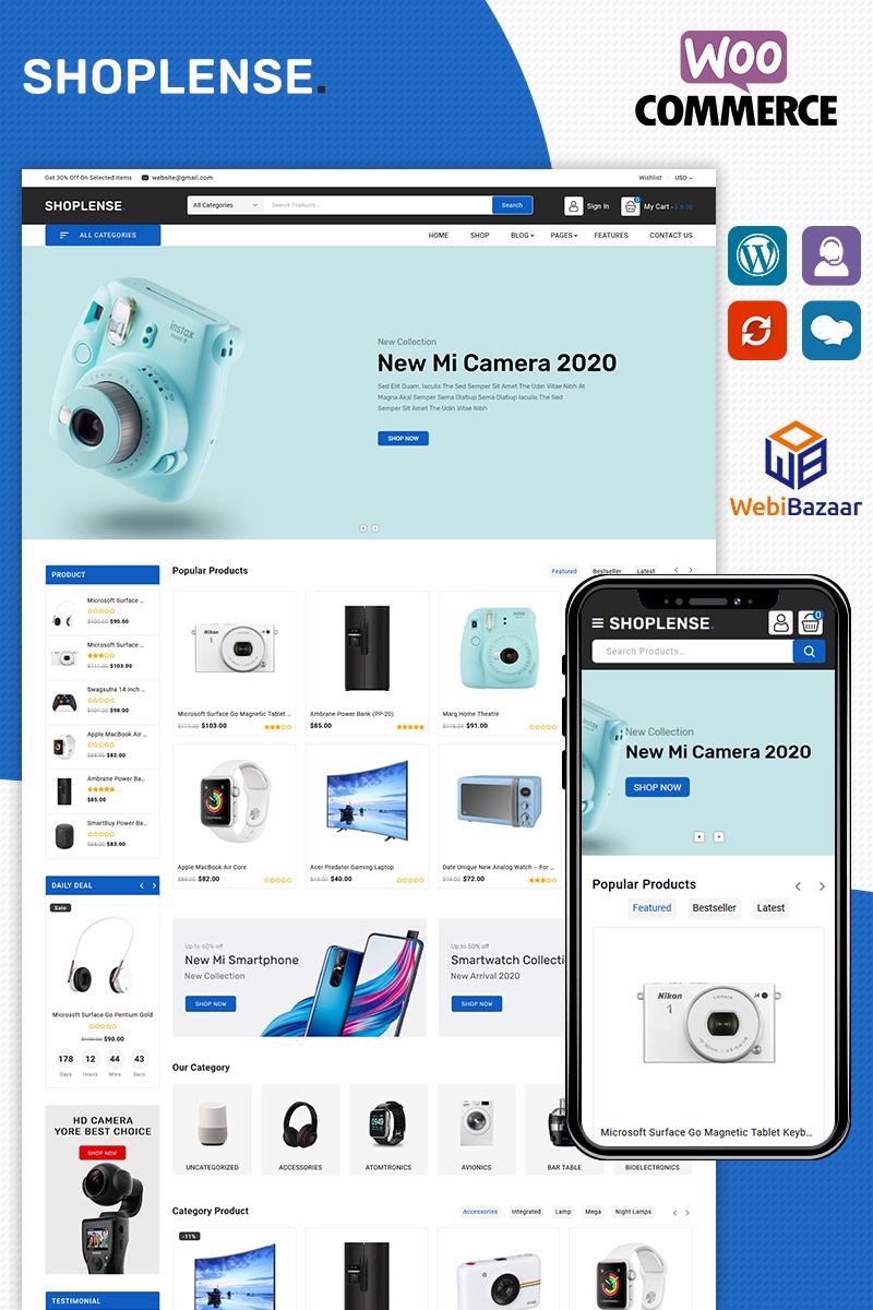 "Tema WooCommerce ""Shoplense - Electronics Premium"" #97011 - captura de pantalla"