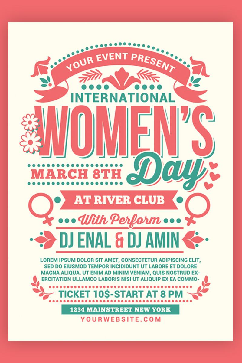 "Template di Identità Aziendale #97033 ""Womens Day International Flyer"""