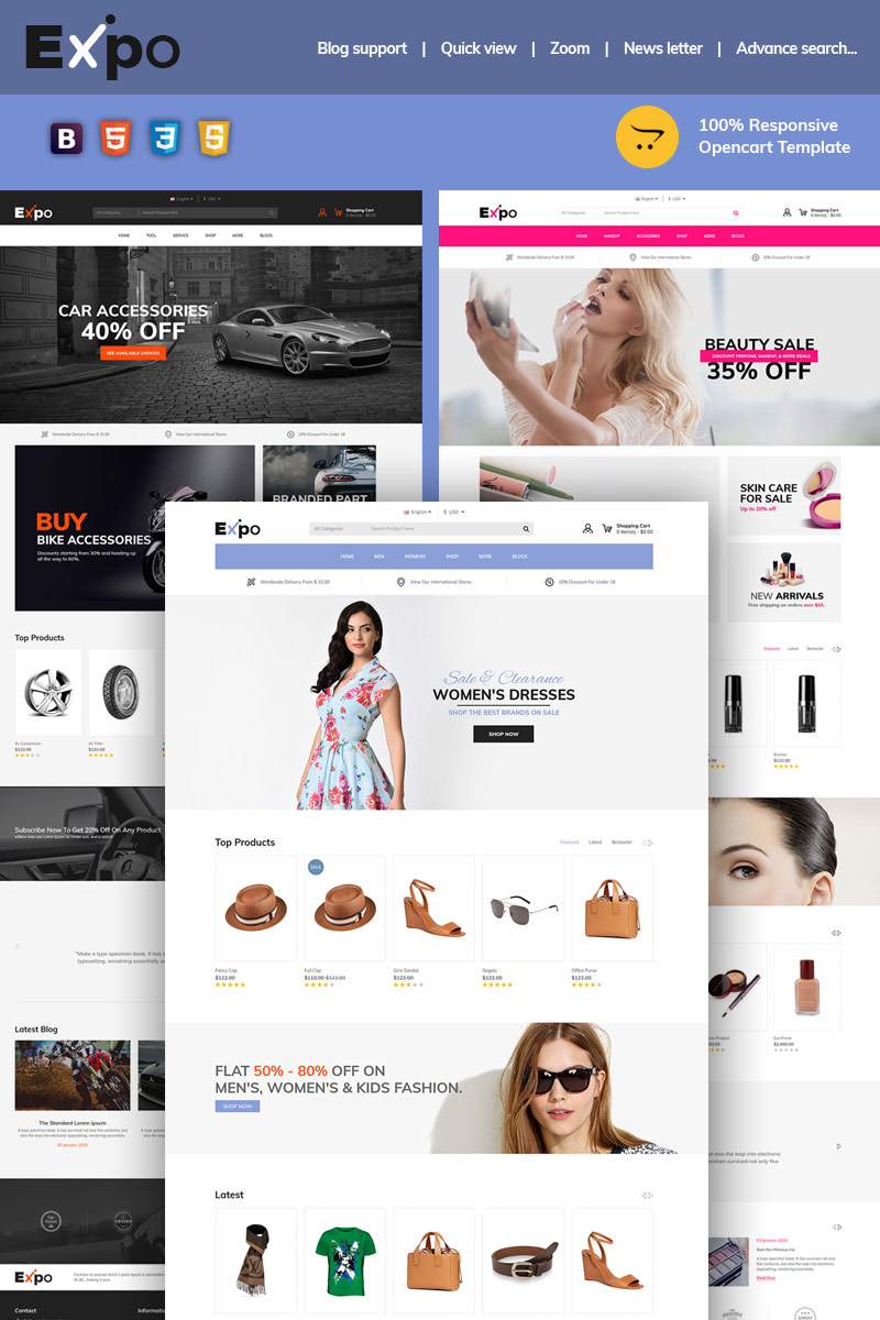 "Template OpenCart Responsive #97015 ""Expo Multipurpose"" - screenshot"