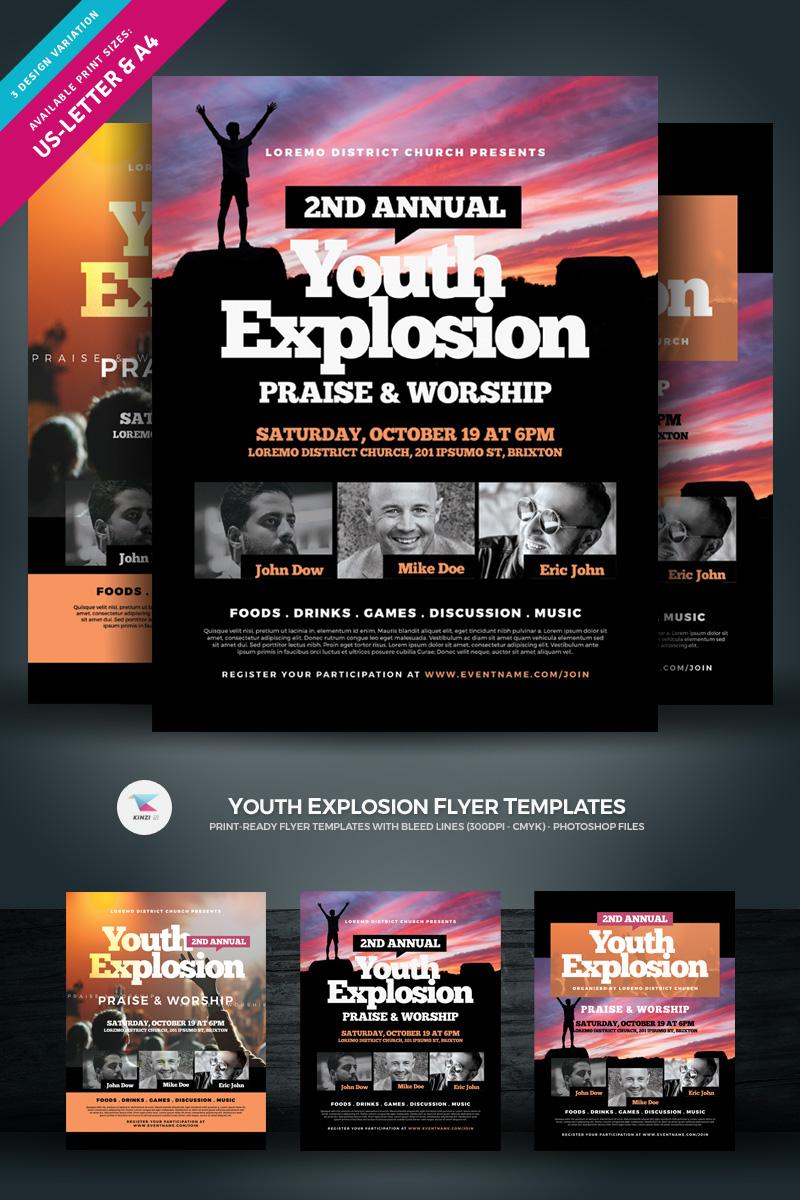 """""""Youth Explosion Flyer"""" Bedrijfsidentiteit template №97035"""