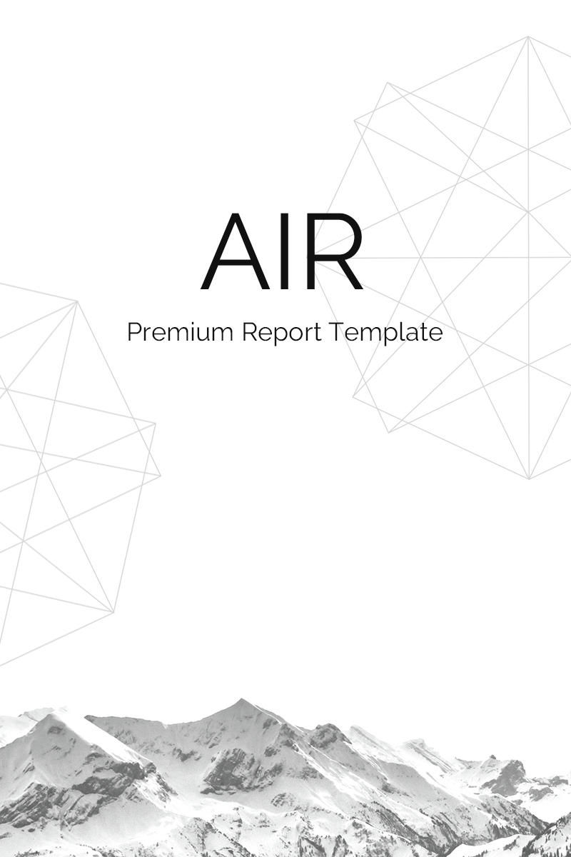 Air - Report PowerPoint Template