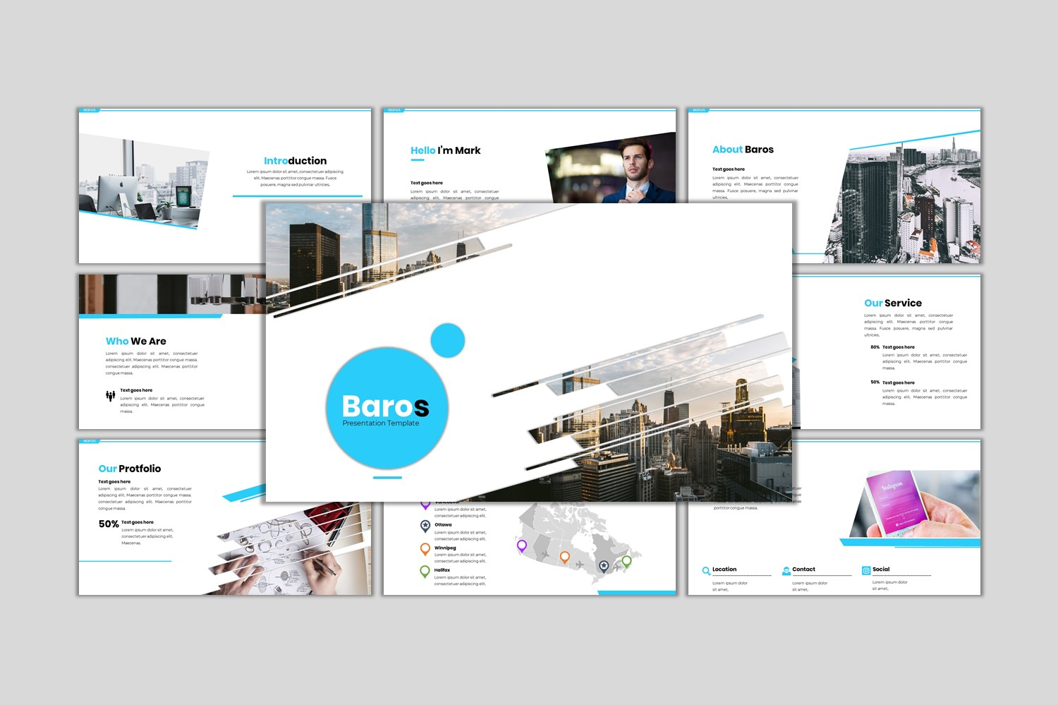 Baros - Creative Business Template PowerPoint №97188