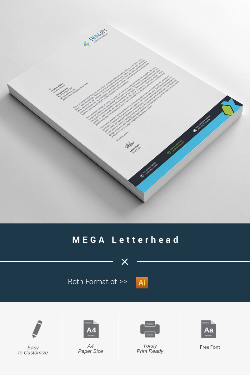 BEGA Letterhead Corporate Identity Template