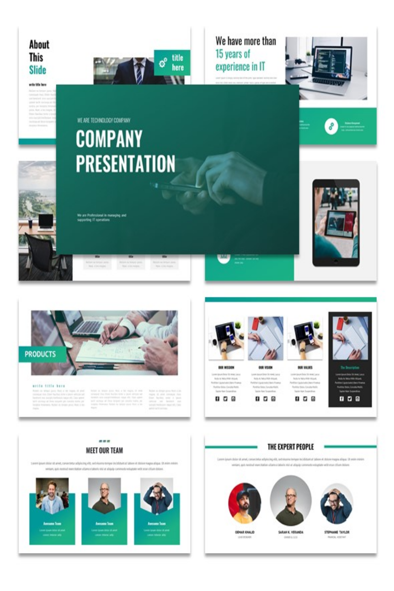 Company Presentation PowerPoint Template