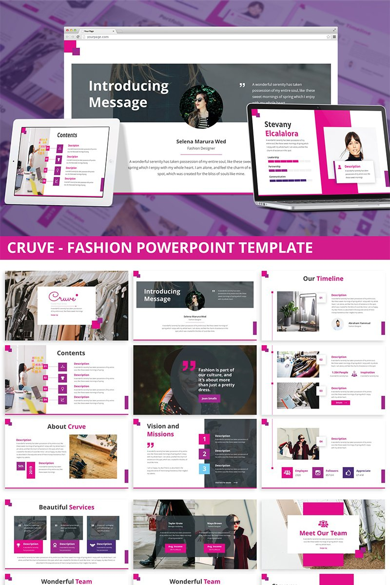 Cruve - Fashion PowerPoint Template