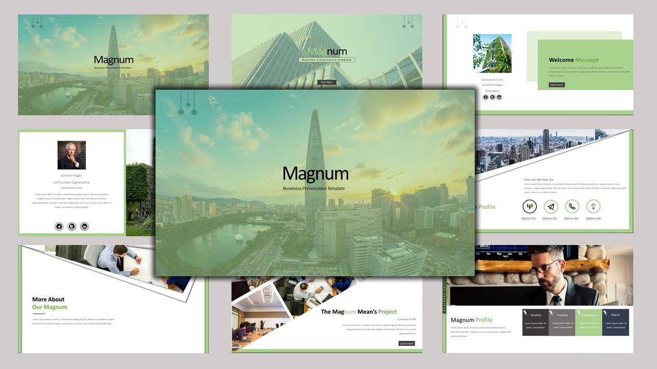 """""""Magnum - Creative Business"""" modèle PowerPoint Premium #97158"""