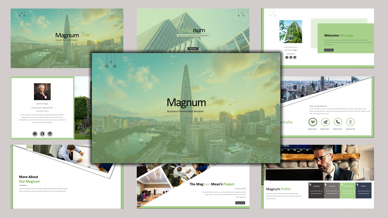 """Magnum - Creative Business"" - PowerPoint шаблон №97158"