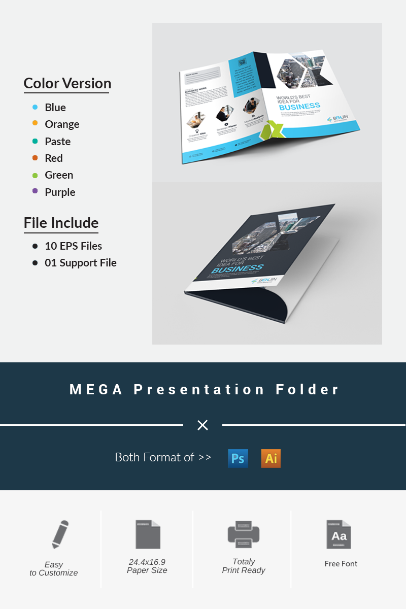 MEGA Presentation Folder Corporate Identity Template