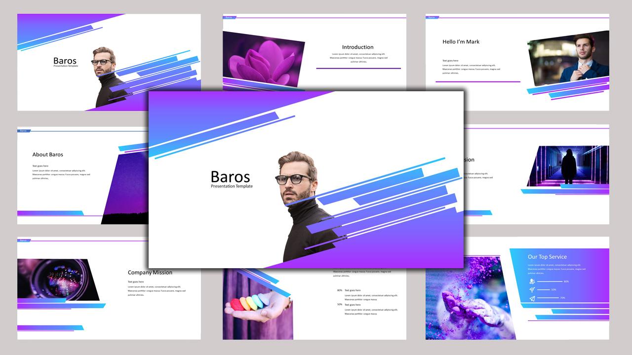 """PowerPoint Vorlage namens """"Baros - Creative Business"""" #97188"""
