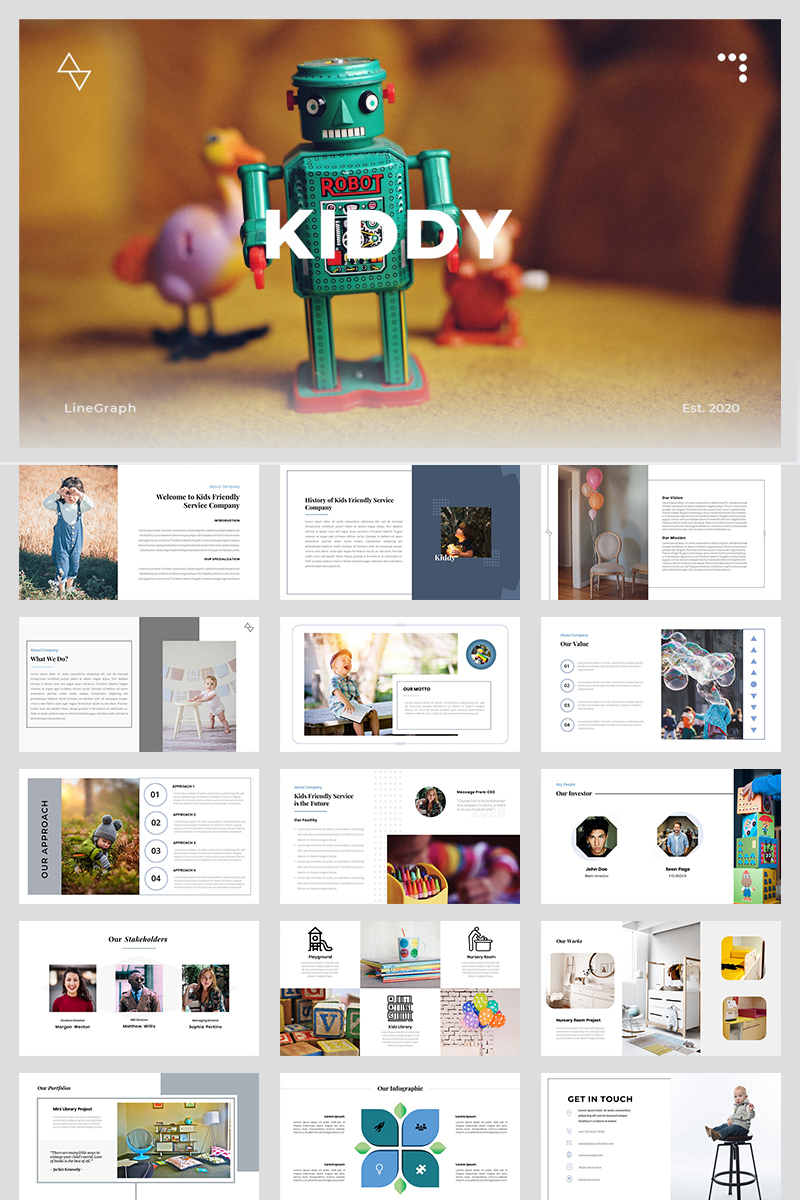 "PowerPoint Vorlage namens ""Kiddy - A Business Service"" #97157"