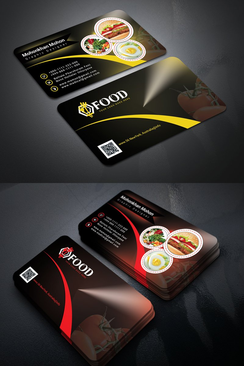 Restaurant Business card Corporate Identity Template