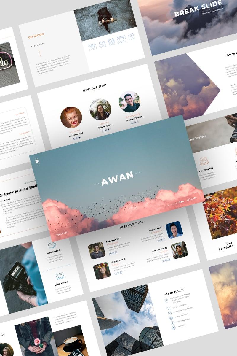 """Awan –"" 奖金PowerPoint 模板 #97203"