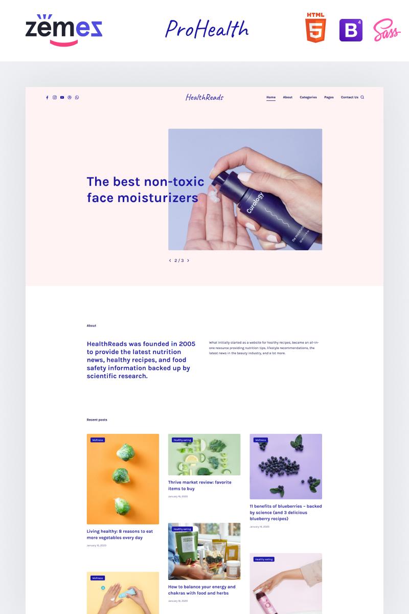 """HealthReads - Healthy Living"" modèle web adaptatif #97205"