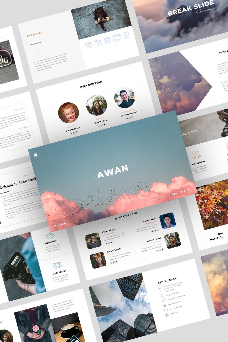 Prémium Awan – PowerPoint sablon 97203