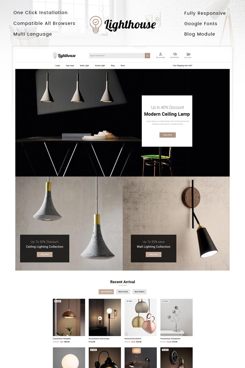 Responsywny szablon PrestaShop LightHouse - Lighting Store #97207