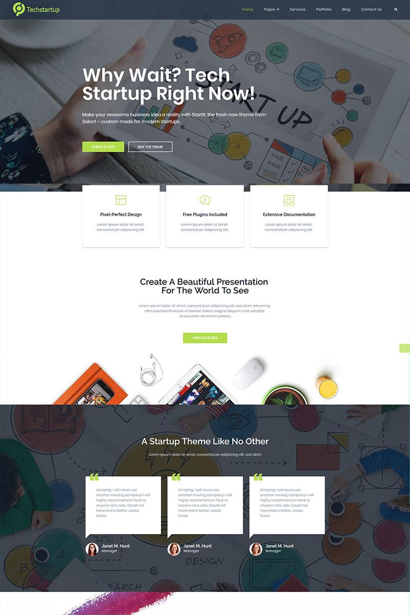 """Tech startup innovations"" thème WordPress  #97211 - screenshot"
