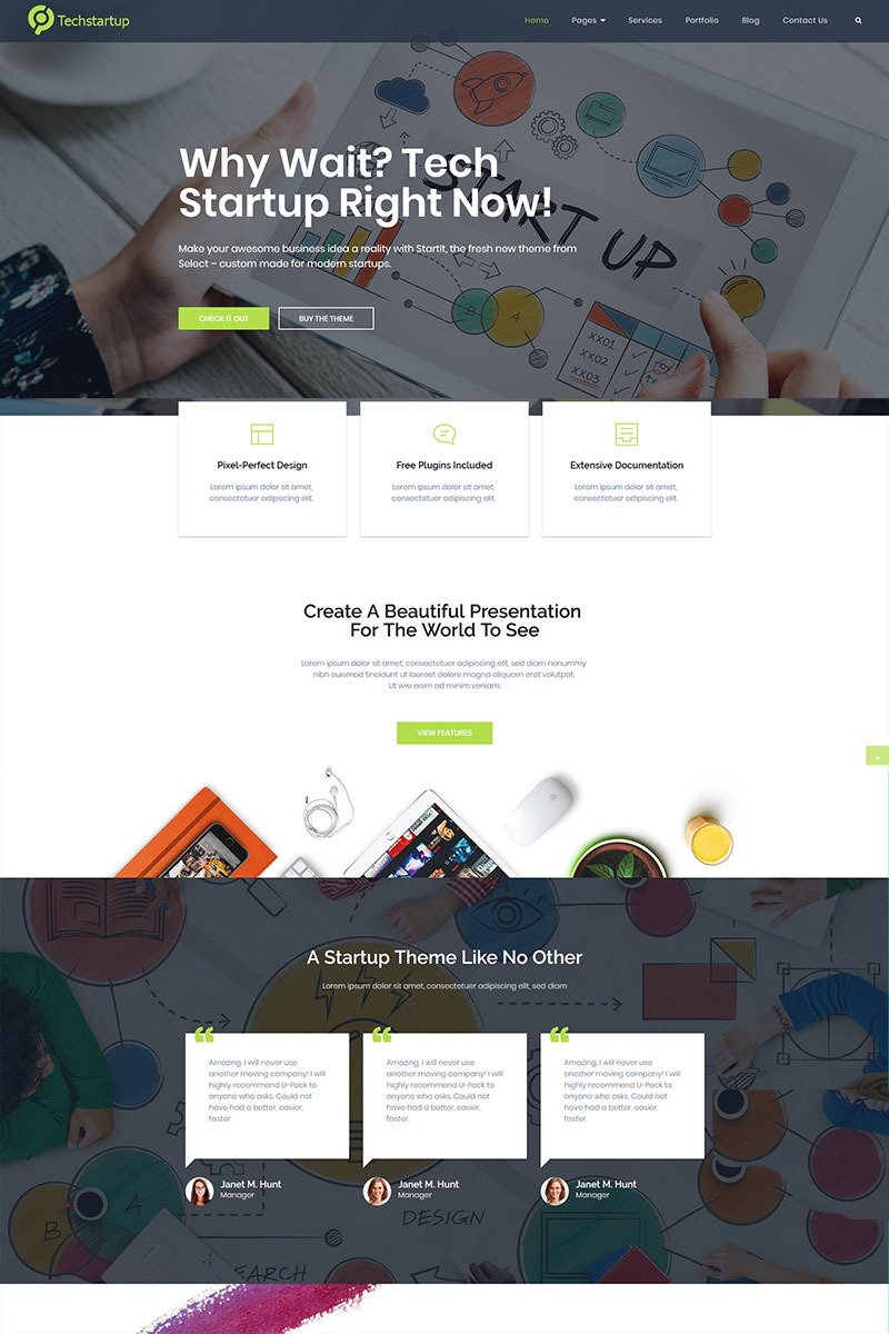 "Tema De WordPress ""Tech startup innovations"" #97211"