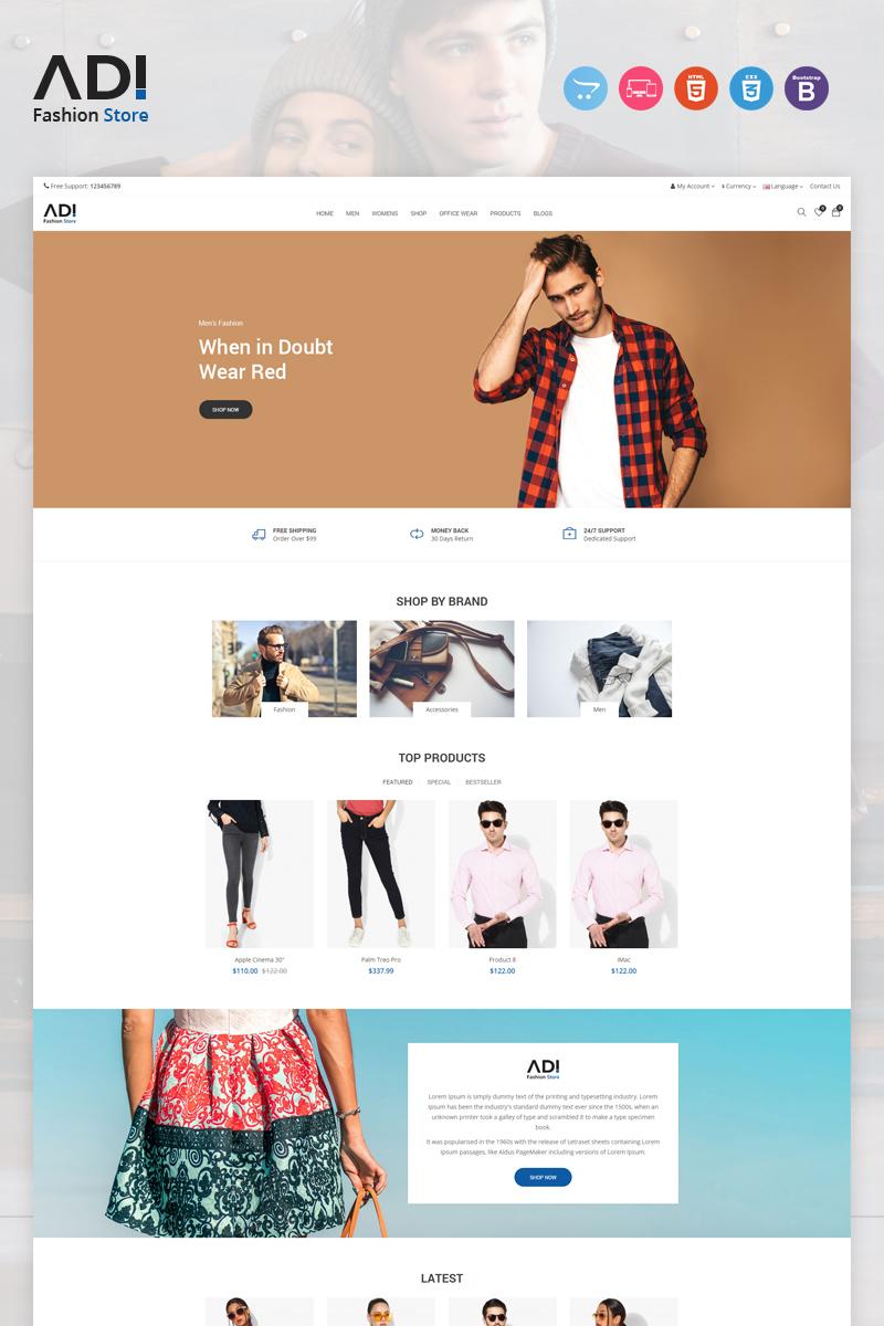 """""""Adi Fashion"""" - адаптивний OpenCart шаблон №97389"""