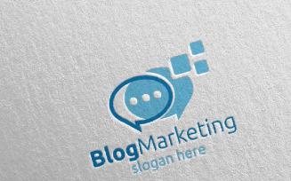 Blog Digital Marketing Financial Advisor 70 Logo Template