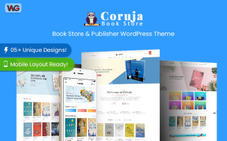 Coruja - Book Store and Publisher WooCommerce WordPress Theme