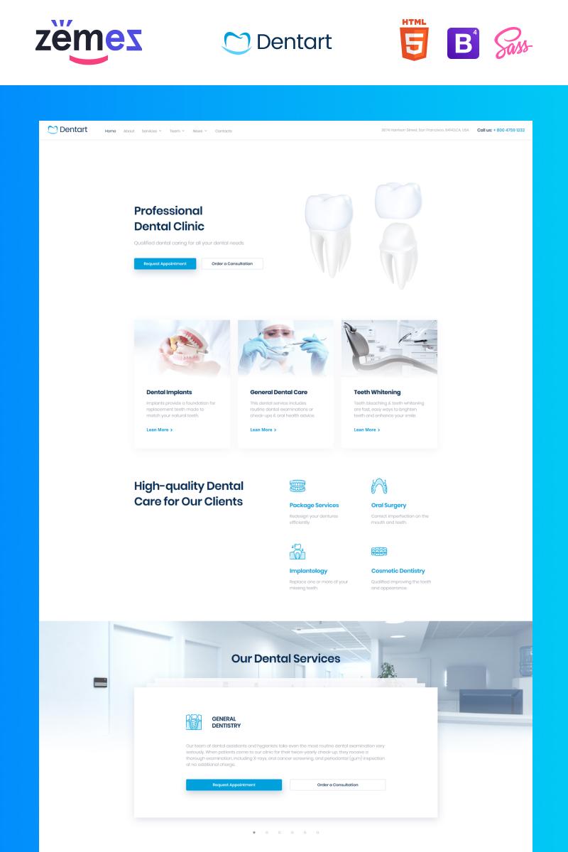 Dentart - Dental Service Website Template