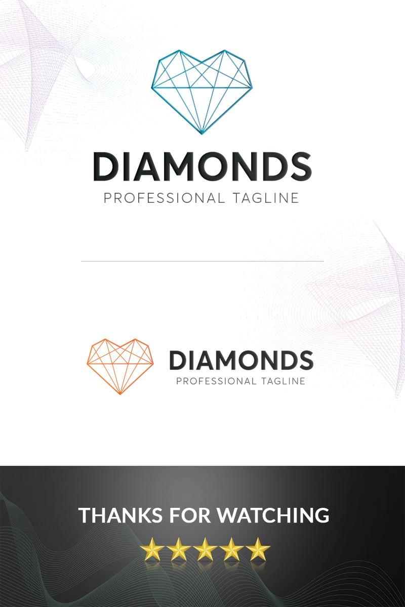 """Diamonds"" Premium Logo template №97373"