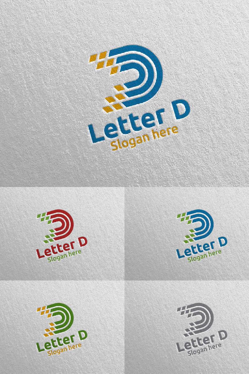 Letter D for Digital Marketing Financial 65 Logo #97313