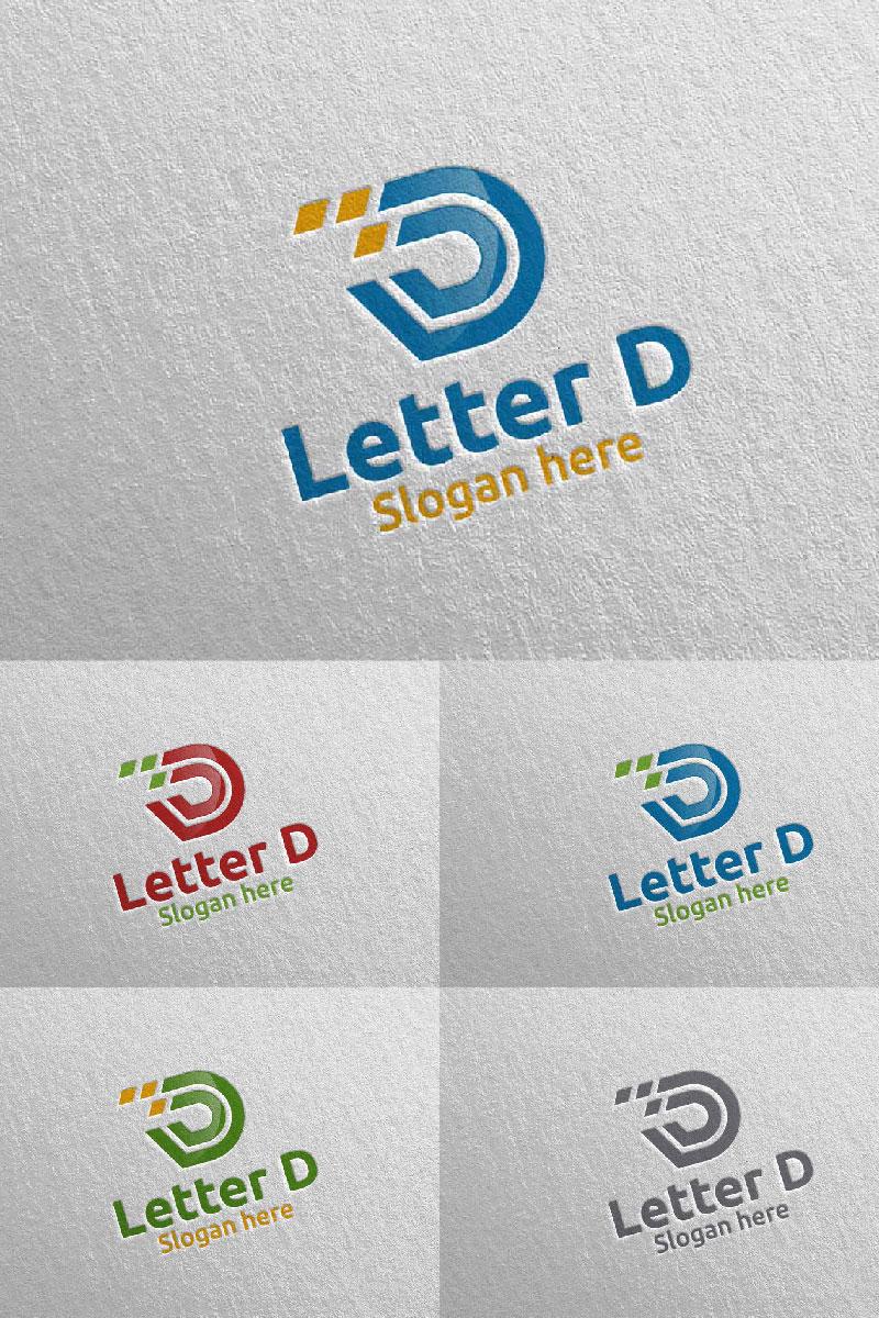 Letter D for Digital Marketing Financial Advisor 61 Logo #97316