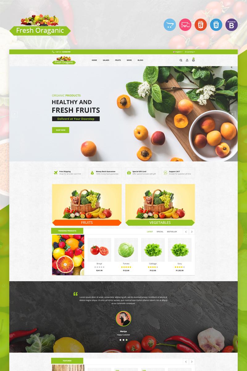 Responsivt Fresh Organic OpenCart-mall #97396