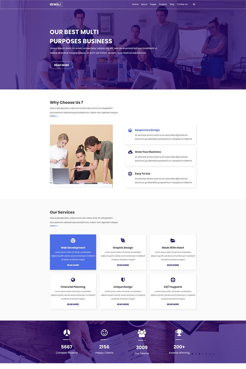 REWAJ | Multipurpose PSD Template