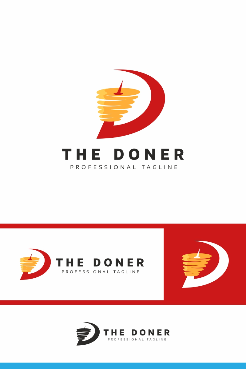"""""""The Doner"""" Logo template №97376"""