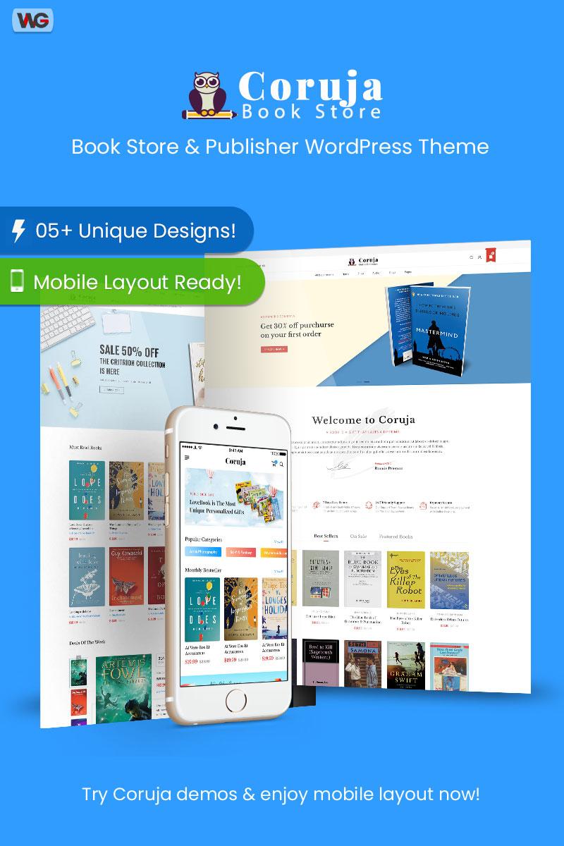 "WooCommerce Theme namens ""Coruja - Book Store & Publisher WordPress"" #97391"
